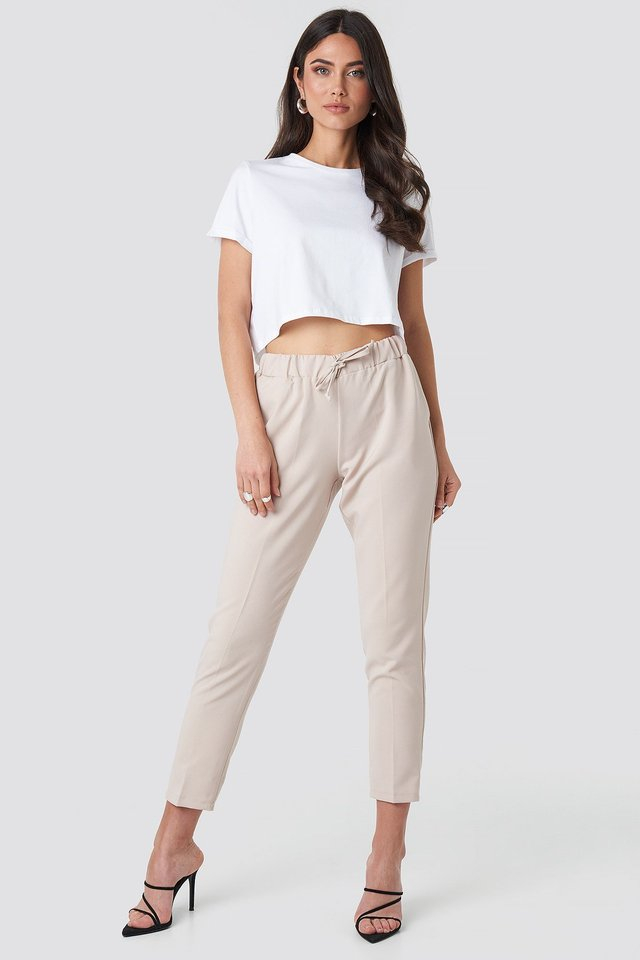 Meg Trousers Beige Outfit
