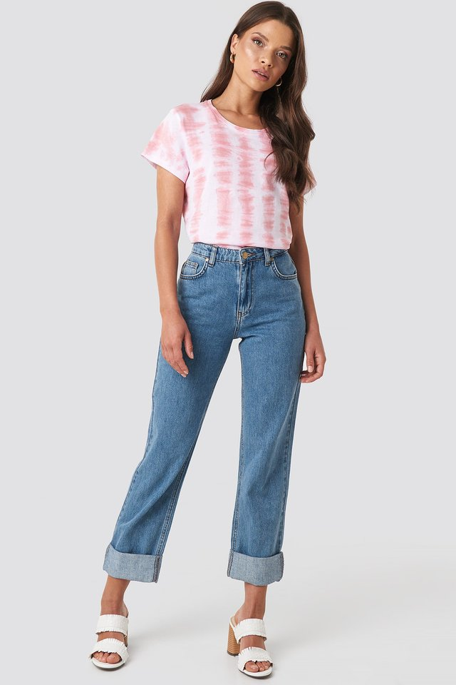 Alex Fold Up Jeans Blue Outfit