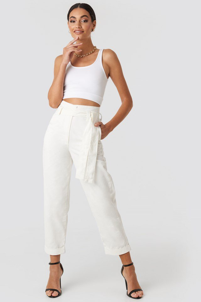 Baggy Pants White Outfit