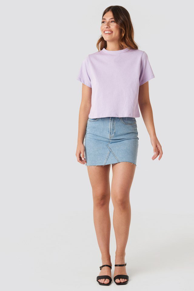 Basic Tee Purple Outfit