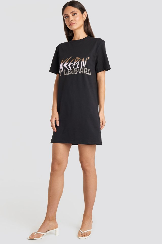 Keepin It T-shirt Dress Black Outfit