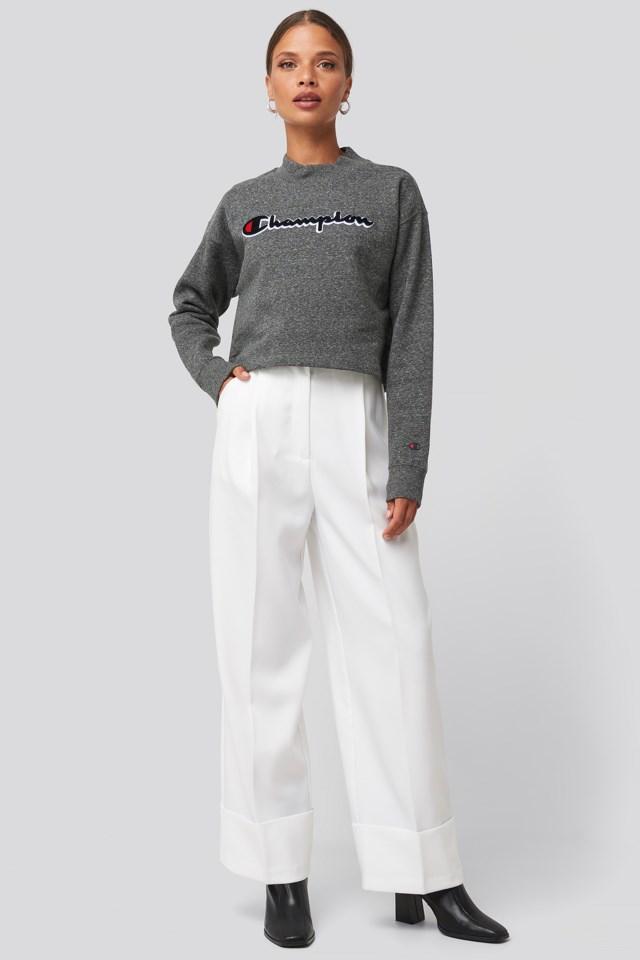 High Neck Sweatshirt Look