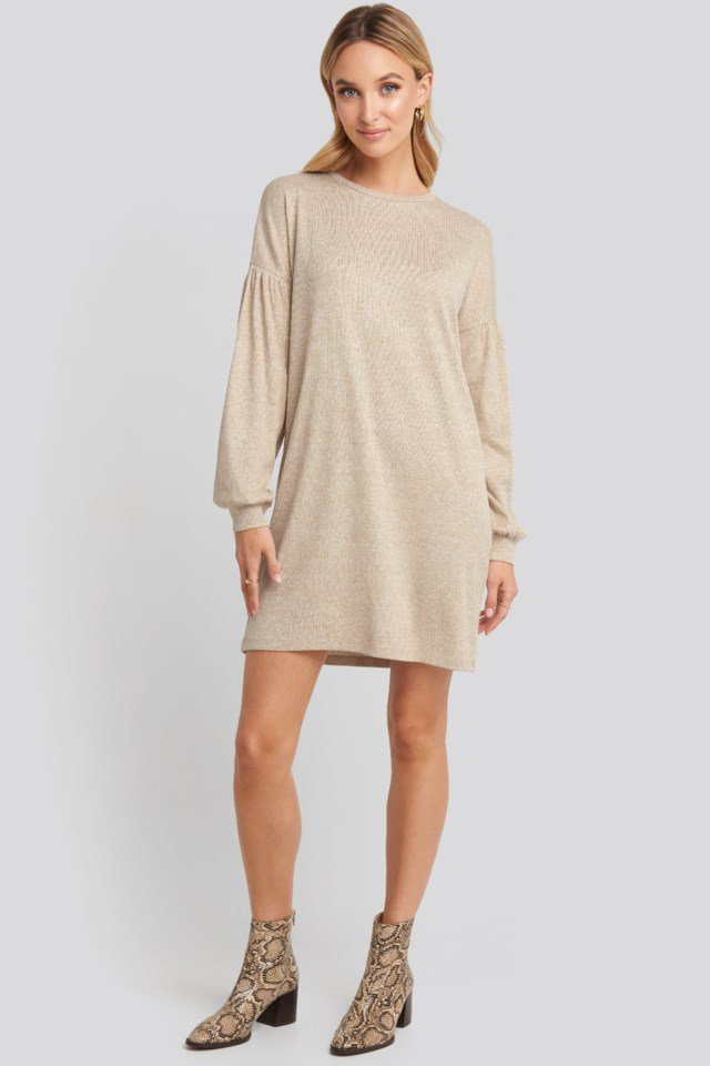 Oversized Ribbed Mini Dress Outfit