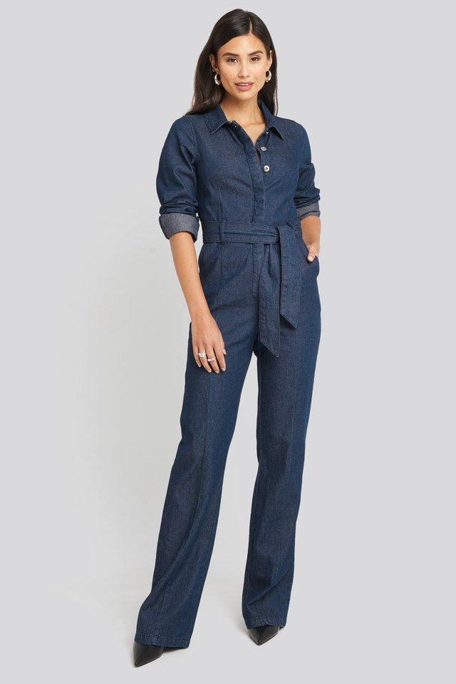 Denim Jumpsuit Look