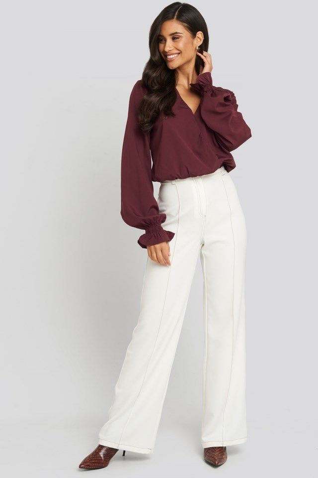 Wrap Over Blouse Red