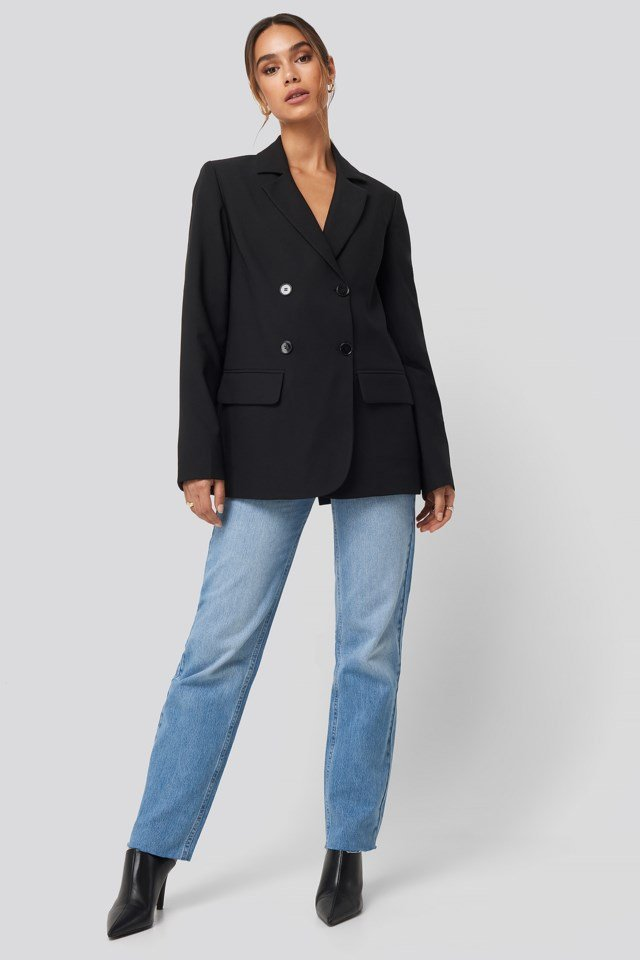 Double Button Blazer Outfit