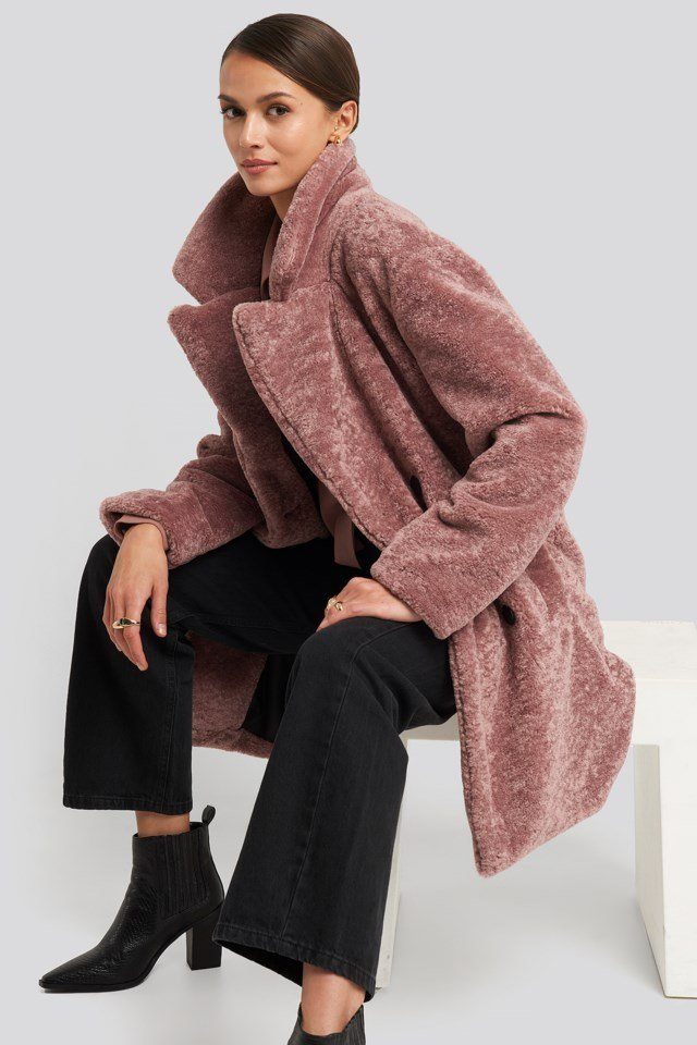 Long Teddy Coat Look