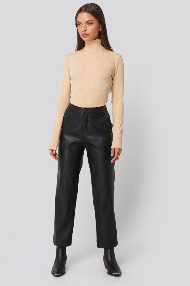 Open Back Highneck Bodysuit Outfit.