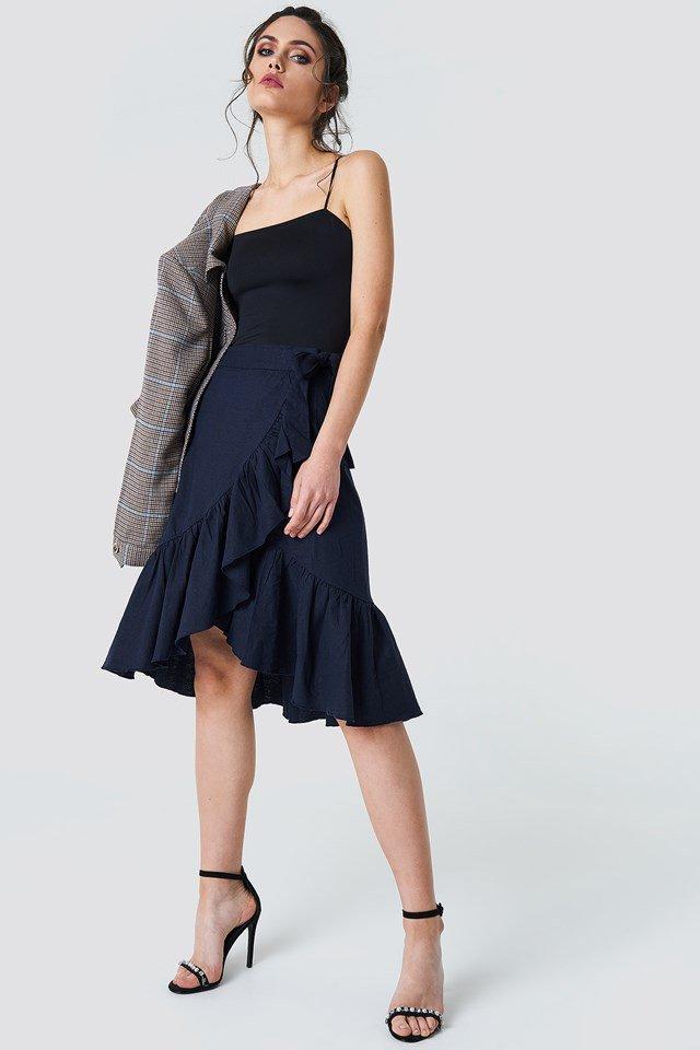 Elegant Wrap Skirt Outfit