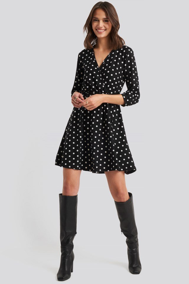 Yol Dotted Mini Dress Look