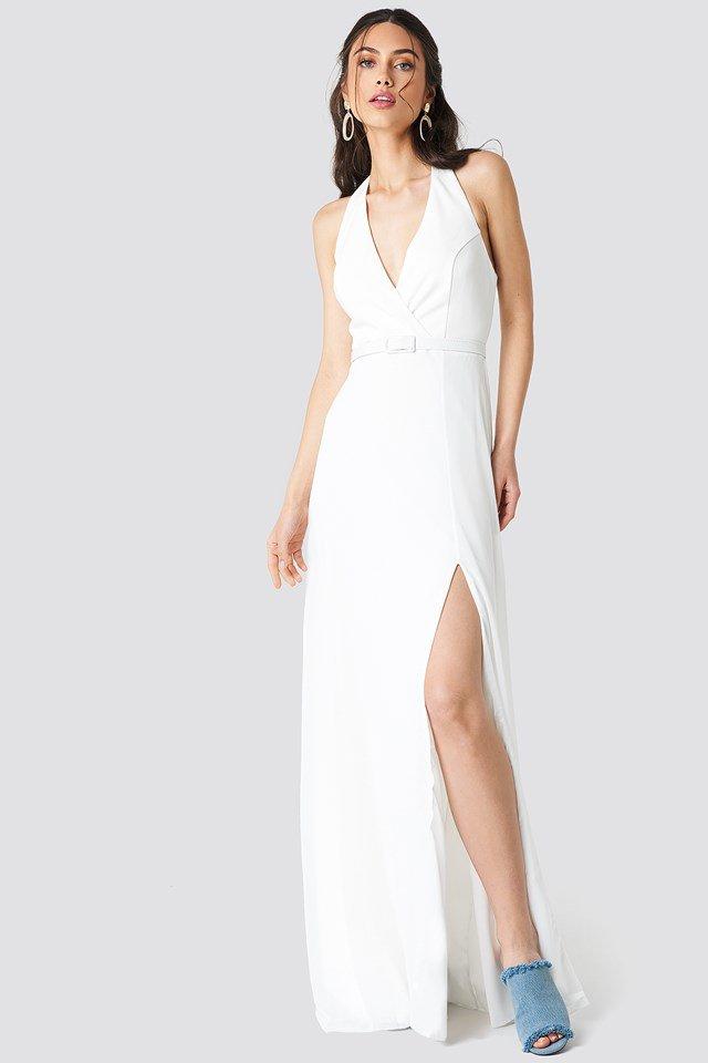 Sophisticated Halterneck Maxi Dress