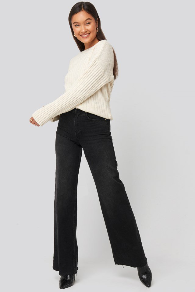 Camilla Frederikke Open Back Knitted Sweater Outfit