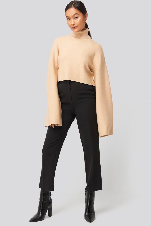 Joann Van Den Herik Polo Neck Knitted Sweater Outfit