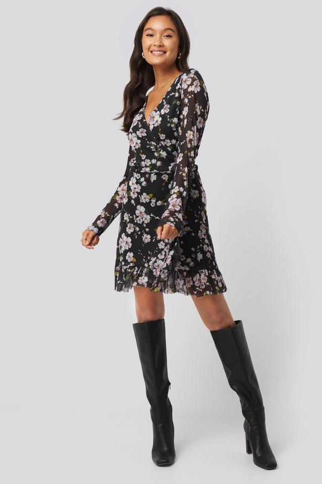 Zia Wrap Dress Outfit.