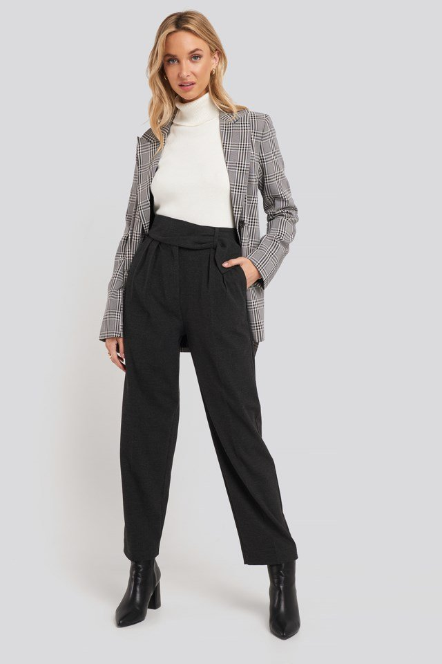 Cinto Trousers Grey Outfit