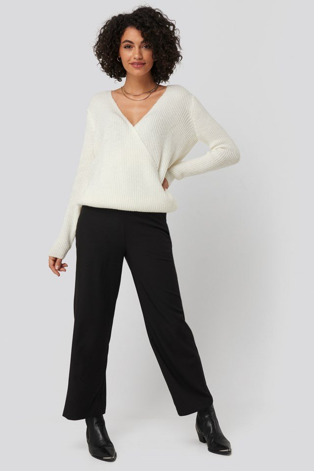 High Waist Wide Trousers Black Outfit