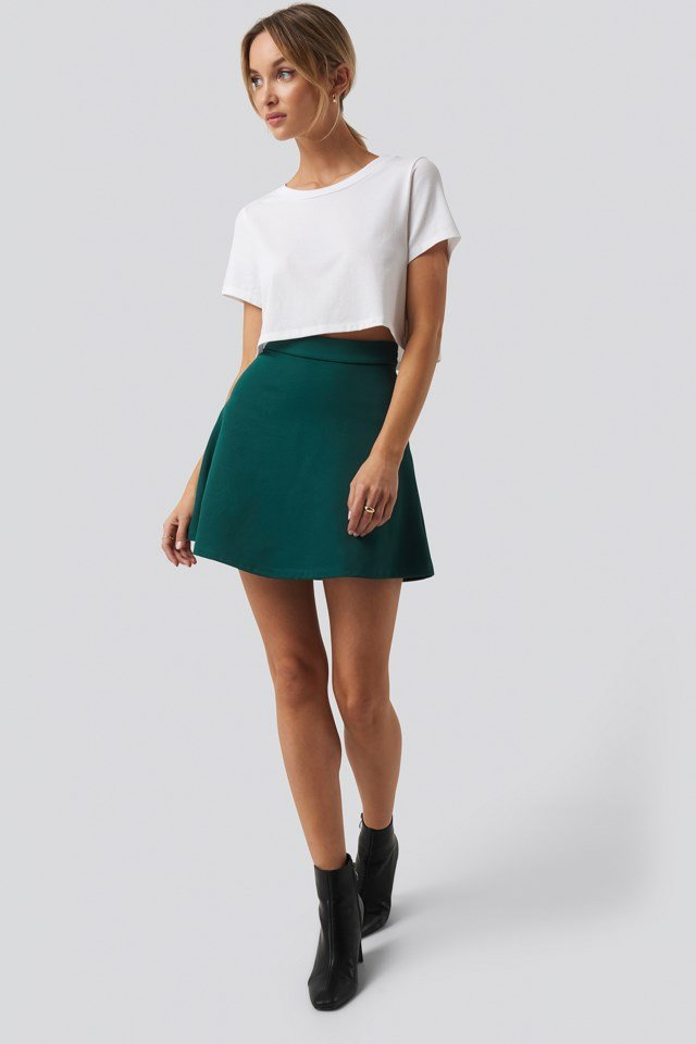 Raw Hem Cropped T-shirt Outfit