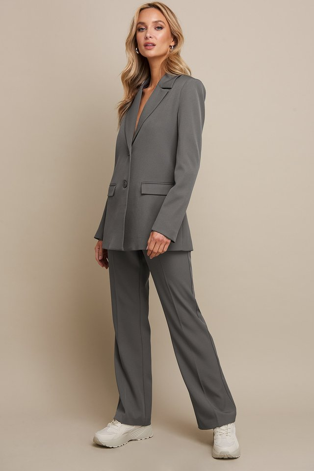 Fitted Blazer Grey Outfit