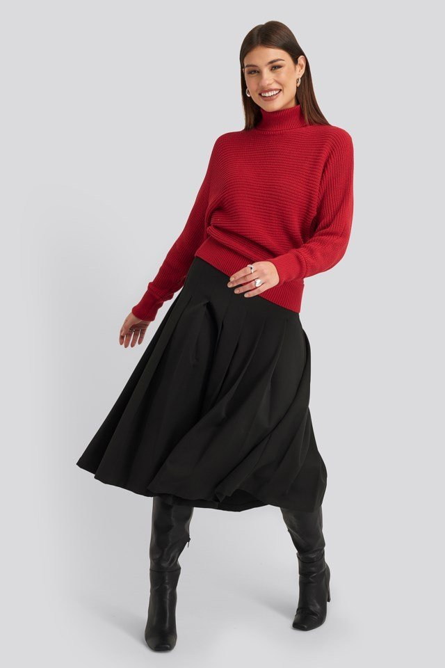 Folded Knitted Sweater Outfit