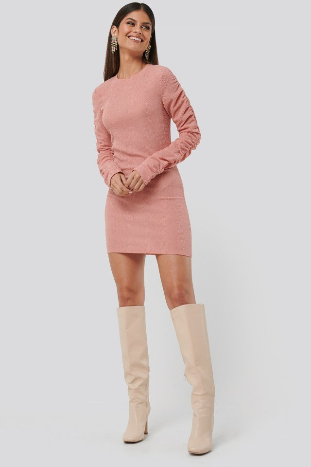 Twisted Sleeve Dress Outfit.