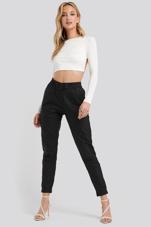 Sonia Cargo Pants Black Outfit
