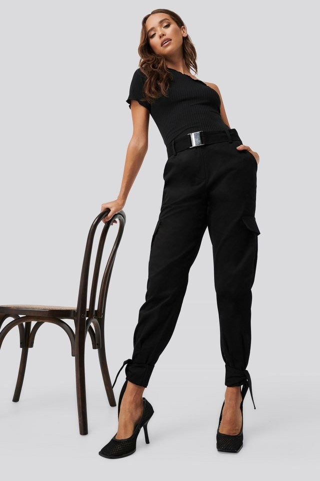 Knot Detail Cargo Pants Outfit