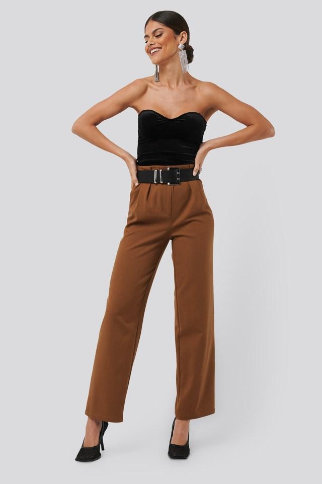 Velvet Bustier Black Outfit
