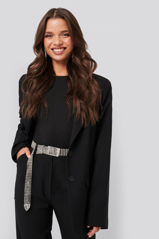 Rhinestone Belt Outfit