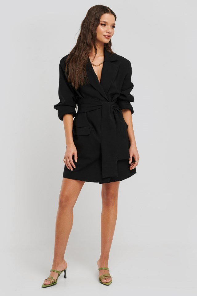 Oversized Blazer Dress Outfit