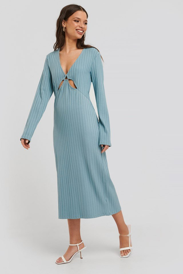 Front Detail Midi Dress Outfit