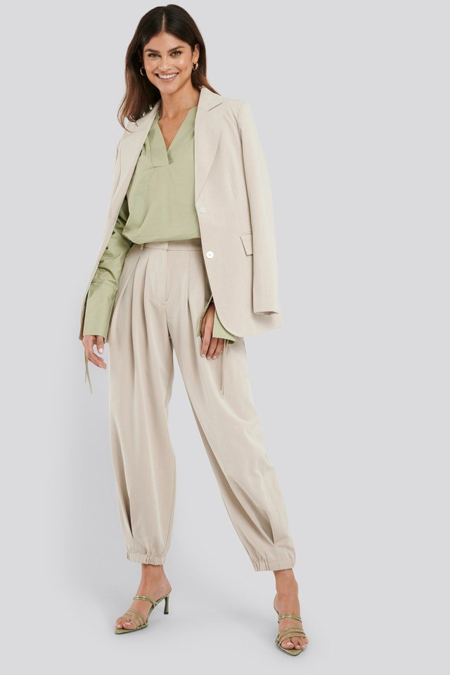 Cocoon Elastic Suit Pants