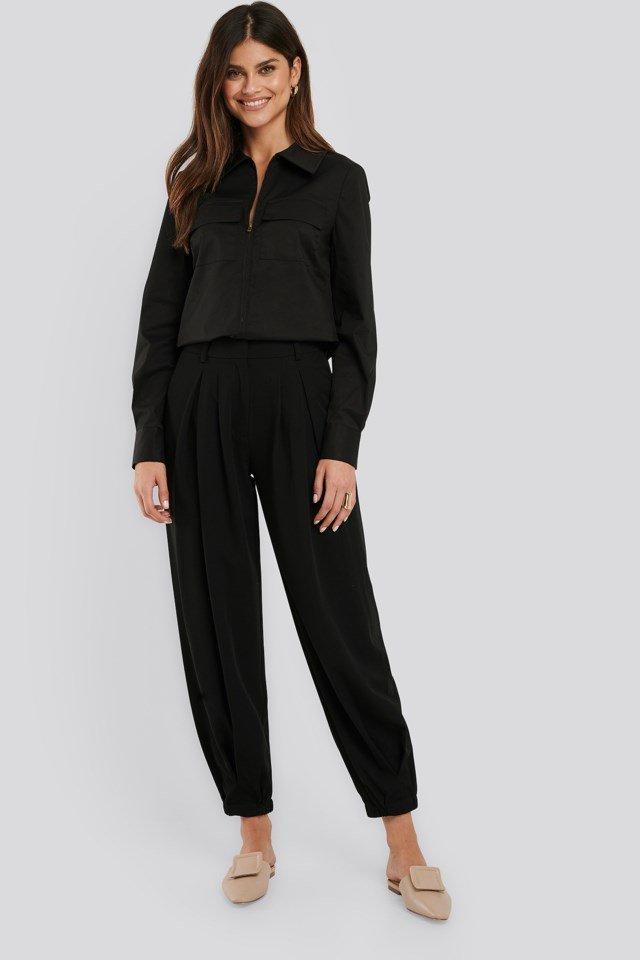 Cocoon Elastic Suit Pants