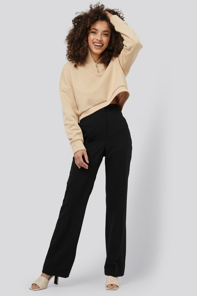Pleat Flare Leg Pants Outfit