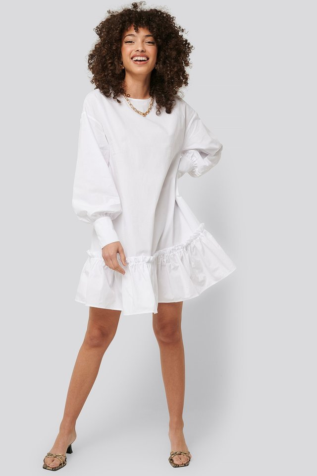 Frilled A-Line Tunic Outfit