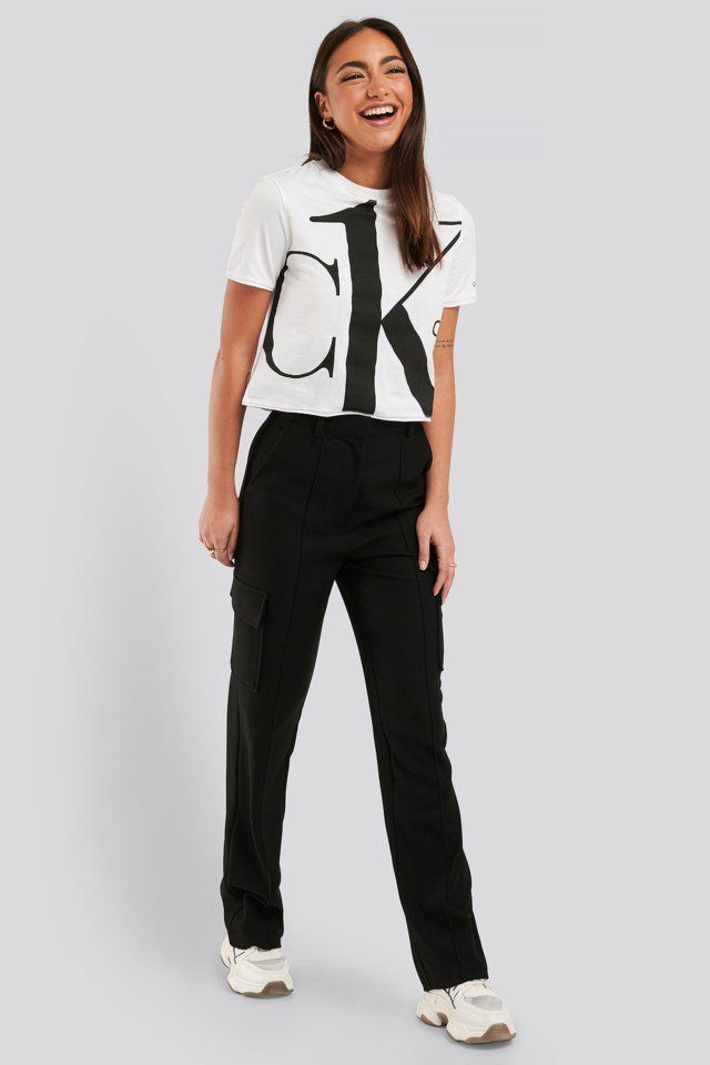 Big Logo Modern Straight Crop Tee Outfit