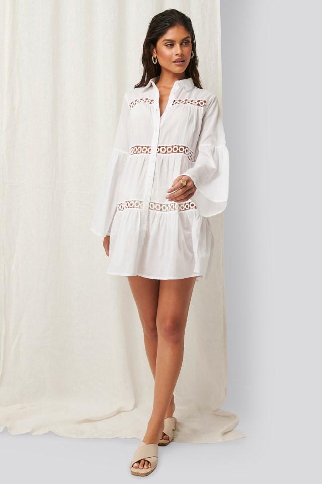 Crochet Detail Dress Outfit