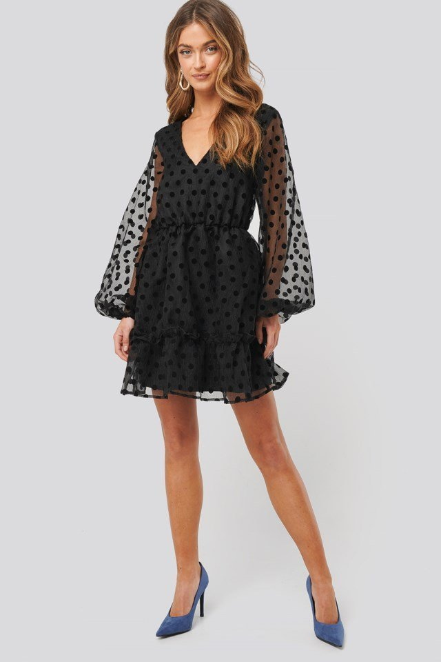 Dot Organza Dress