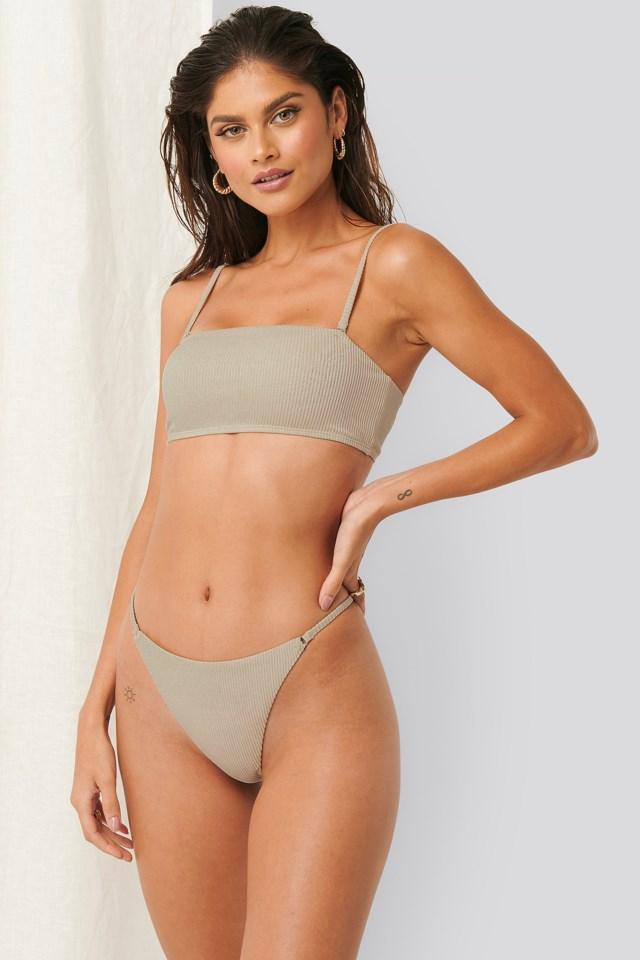 Ribbed Square Bikini Top Outfit