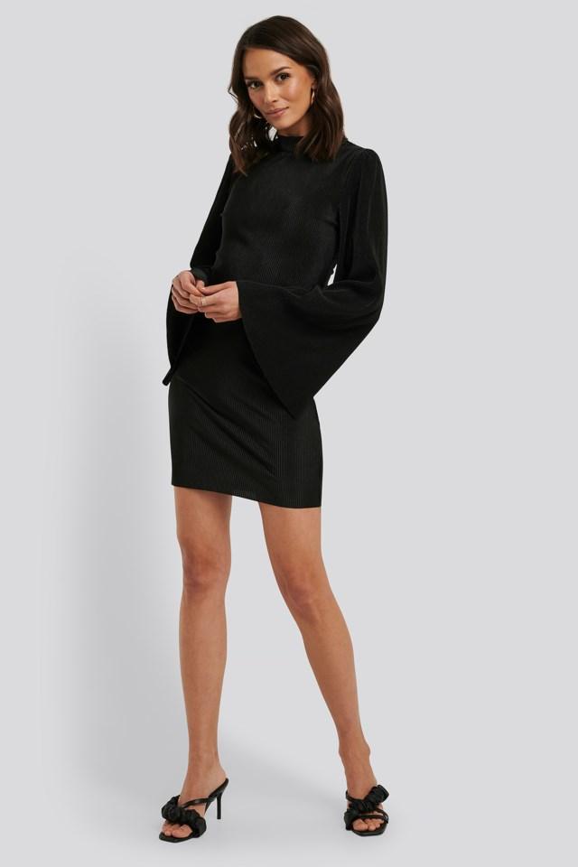 Pleated Collar Mini Dress