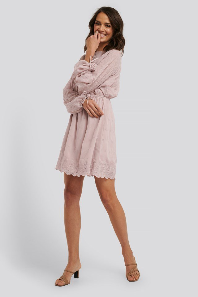Lace-Up Back Mini Dress