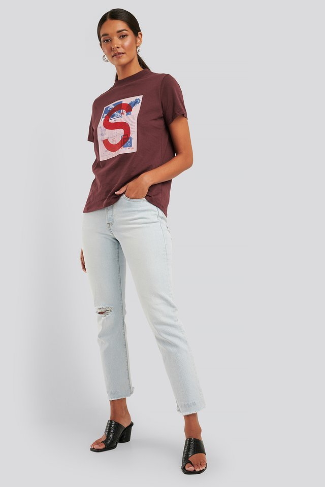 Greek Poster Wide Rib Basic Tee