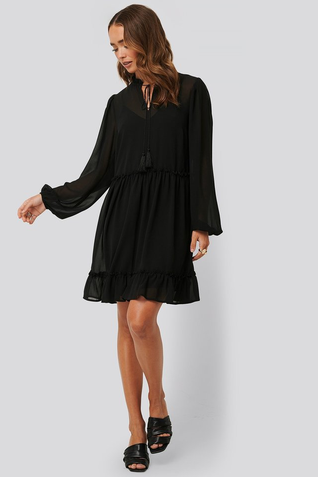 Long Sleeve Flowy Mini Dress