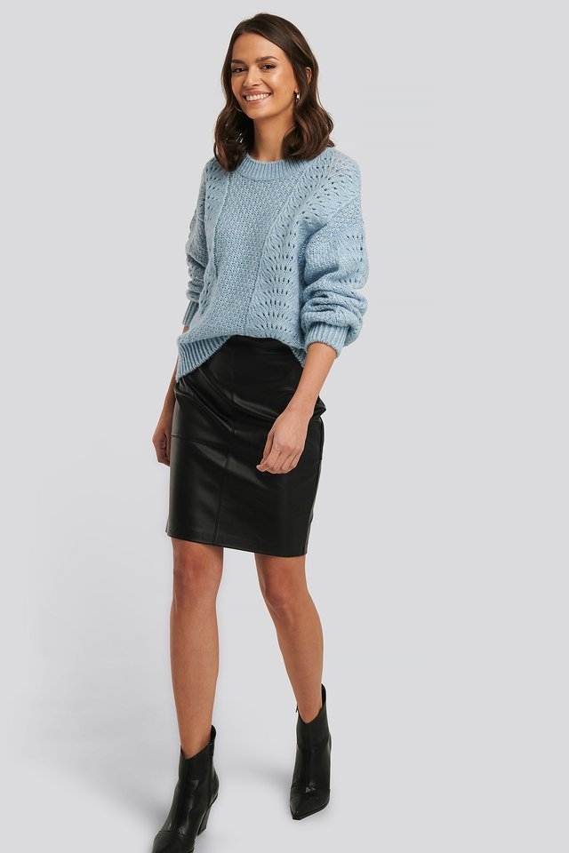 Relax Fit Knitwear Sweater Outfit
