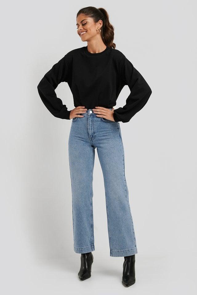 Cinched Waist Sweatshirt Bodysuit
