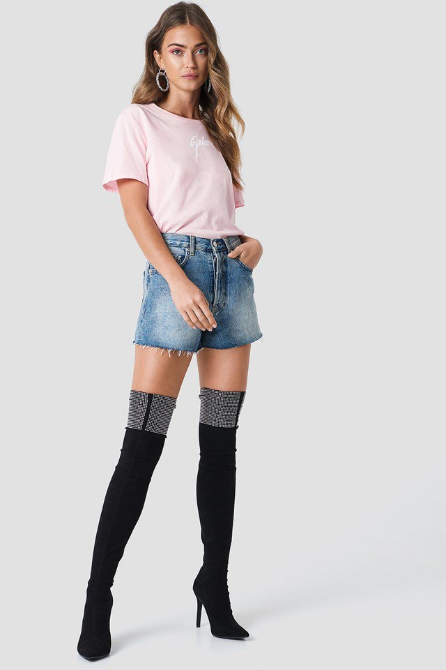 Galore T-shirt with Denim Shorts