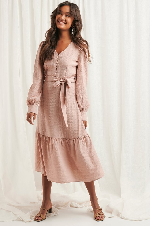 Structured Tie Waist Dress