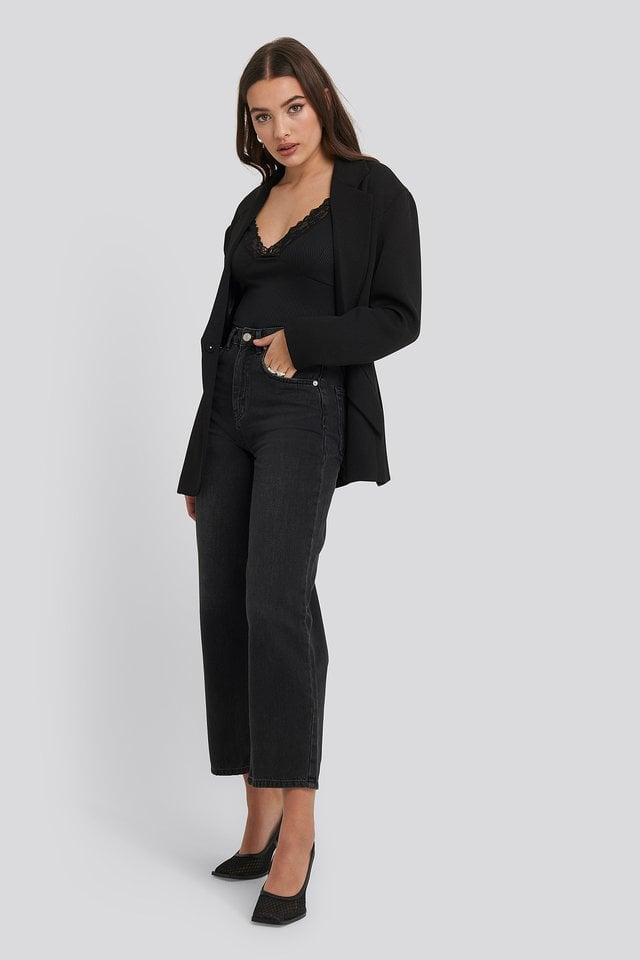 Jersey Lace Singlet