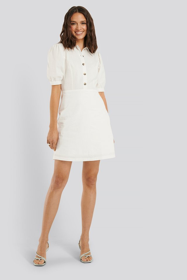 Buttoned Mini Dress