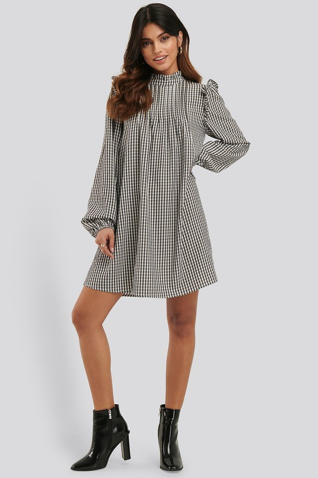 Flowy Frill Detail Dress
