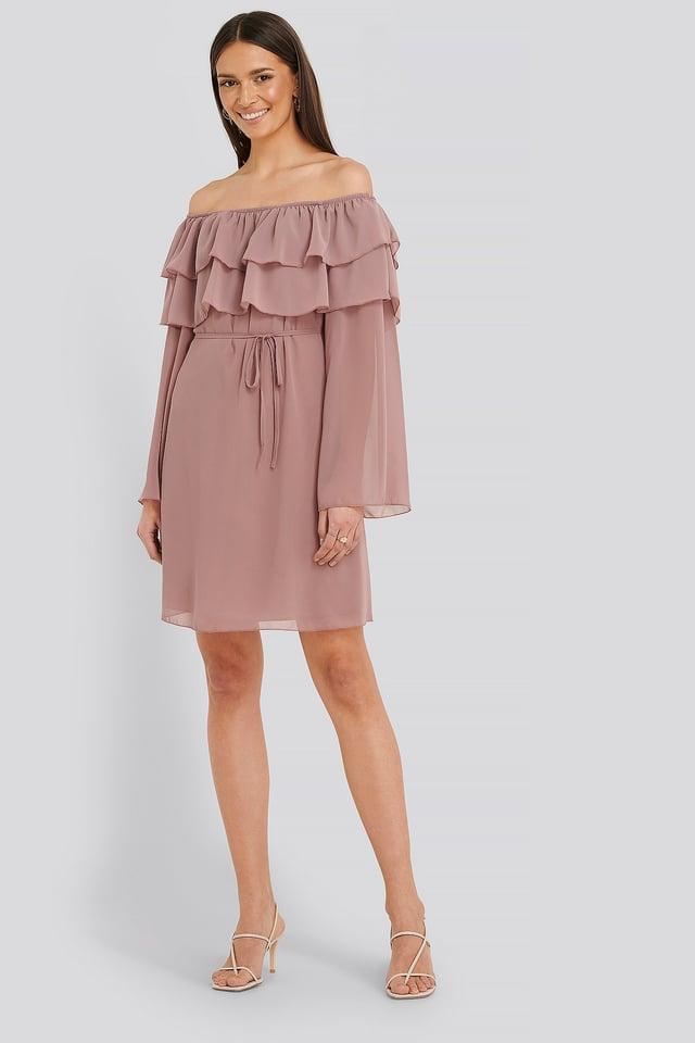 Tulum Ruffle Detail Dress